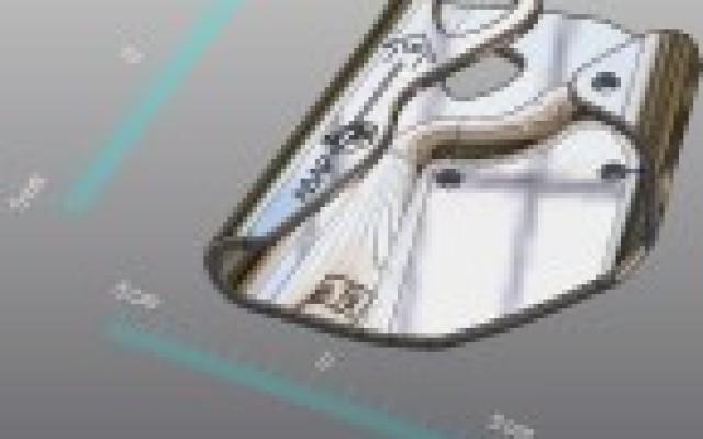 Découpage, finition pièce métallique