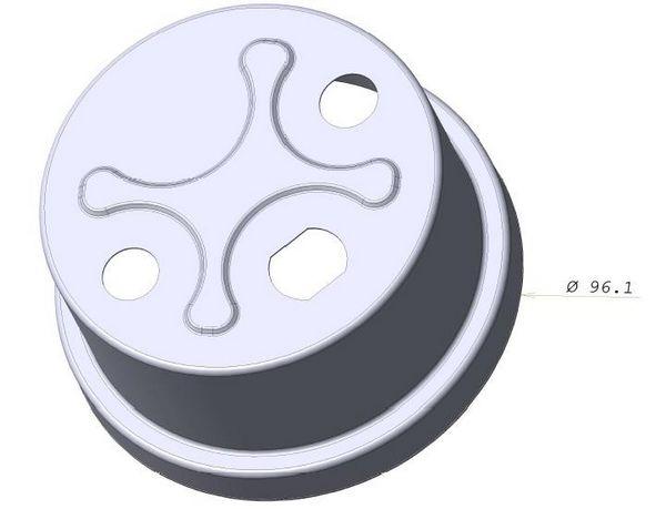 Découpage emboutissage inox, fabrication couvercle compteur eau