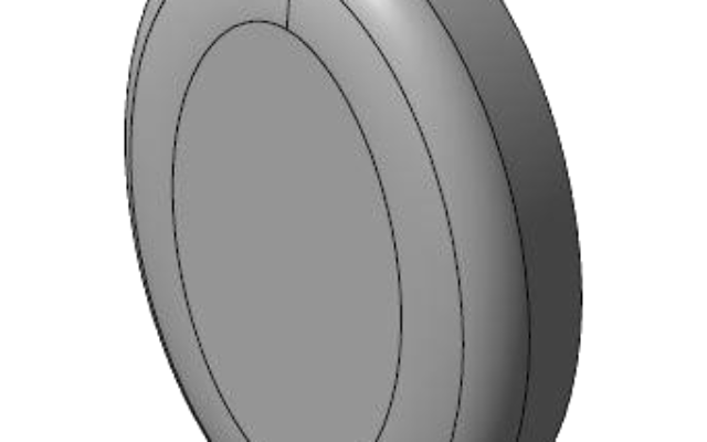 Découpage inox miroir elliptique