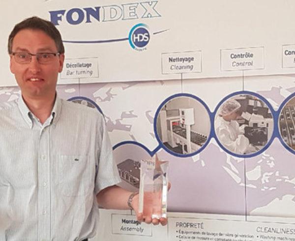 Fondex trophée Global Industrie Réalisation Exemplaire