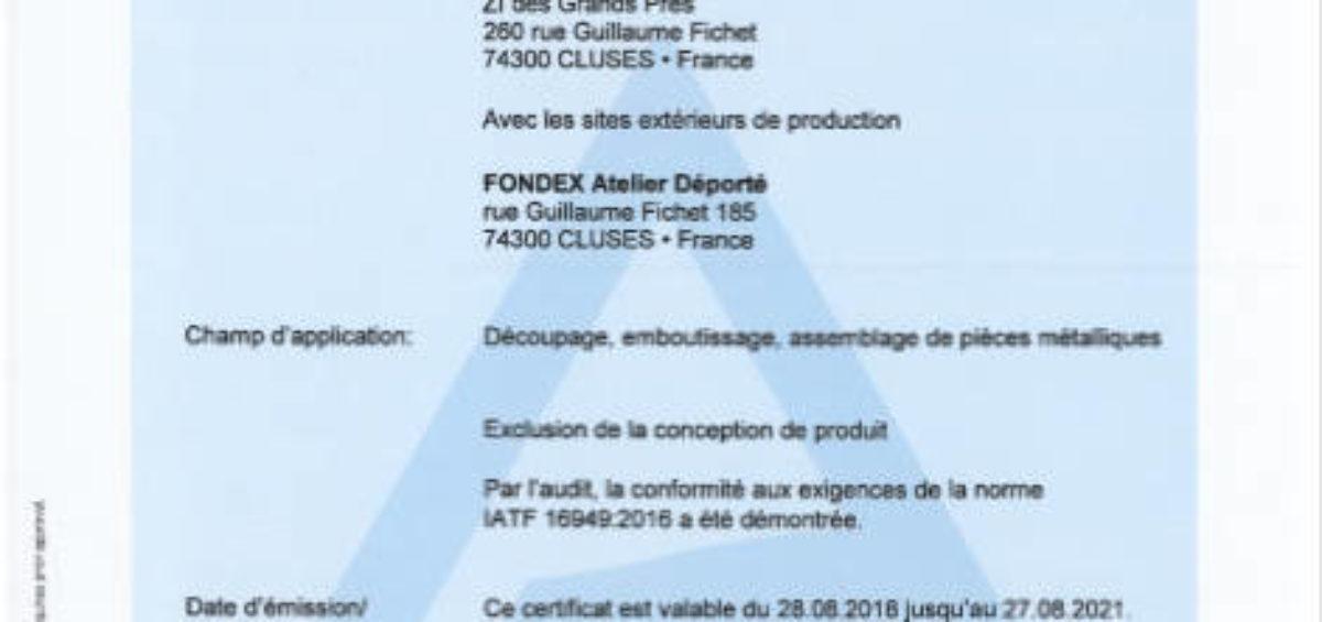 certification atf automobile