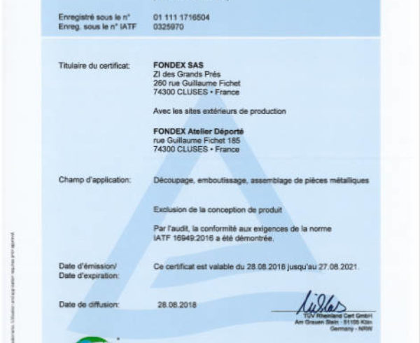 certification atf automobile