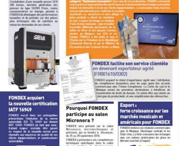 lettre information Fondex septembre 2018