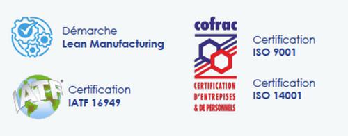 certification entreprise usinage pièce
